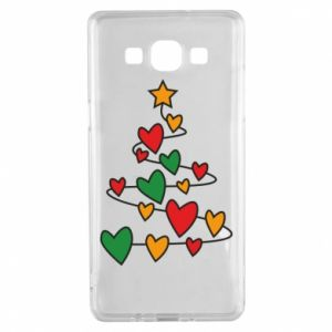 Samsung A5 2015 Case Christmas tree and a lot of hearts