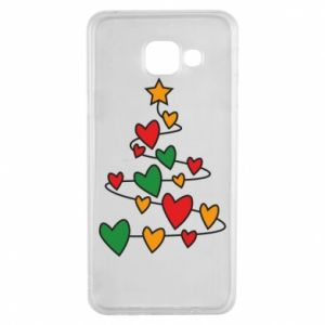 Samsung A3 2016 Case Christmas tree and a lot of hearts