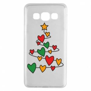 Samsung A3 2015 Case Christmas tree and a lot of hearts