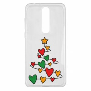 Nokia 5.1 Plus Case Christmas tree and a lot of hearts