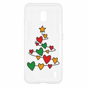 Nokia 2.2 Case Christmas tree and a lot of hearts
