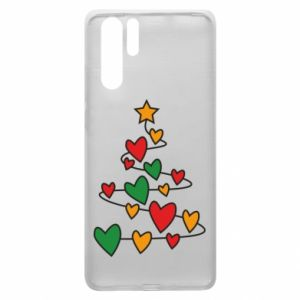 Huawei P30 Pro Case Christmas tree and a lot of hearts