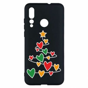 Etui na Huawei Nova 4 Choinka i dużo serc