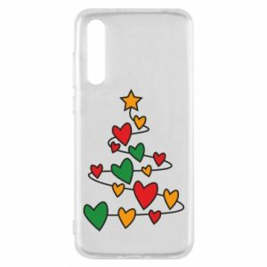 Huawei P20 Pro Case Christmas tree and a lot of hearts