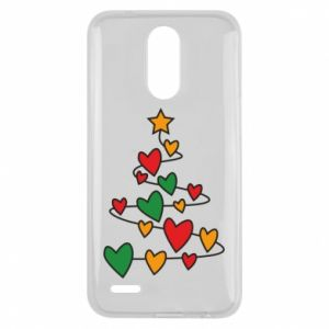 Lg K10 2017 Case Christmas tree and a lot of hearts