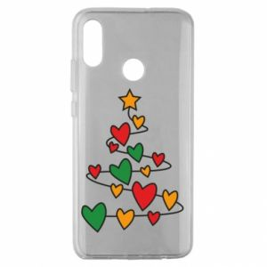 Huawei Honor 10 Lite Case Christmas tree and a lot of hearts