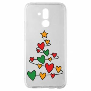 Huawei Mate 20Lite Case Christmas tree and a lot of hearts