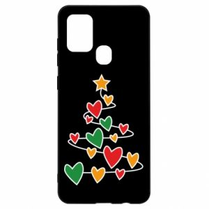 Samsung A21s Case Christmas tree and a lot of hearts