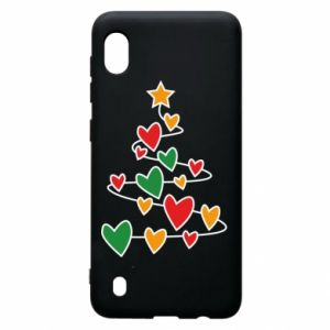 Samsung A10 Case Christmas tree and a lot of hearts