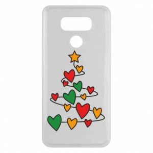 LG G6 Case Christmas tree and a lot of hearts