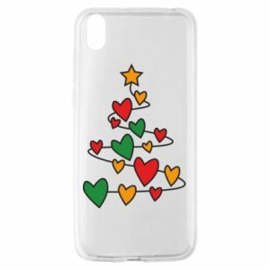Huawei Y5 2019 Case Christmas tree and a lot of hearts