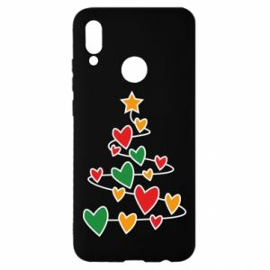 Huawei P Smart 2019 Case Christmas tree and a lot of hearts