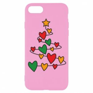 iPhone SE 2020 Case Christmas tree and a lot of hearts