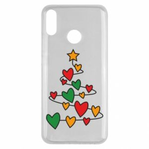 Huawei Y9 2019 Case Christmas tree and a lot of hearts