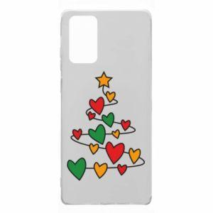 Etui na Samsung Note 20 Choinka i dużo serc