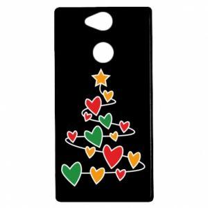 Etui na Sony Xperia XA2 Choinka i dużo serc
