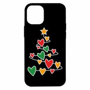 Etui na iPhone 12 Mini Choinka i dużo serc