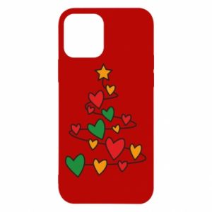 Etui na iPhone 12/12 Pro Choinka i dużo serc