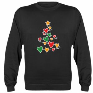 Sweatshirt Christmas tree and a lot of hearts