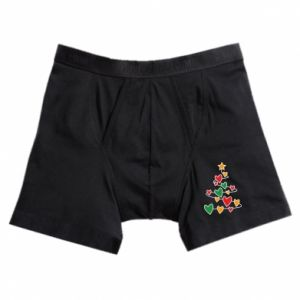 Boxer trunks Christmas tree and a lot of hearts