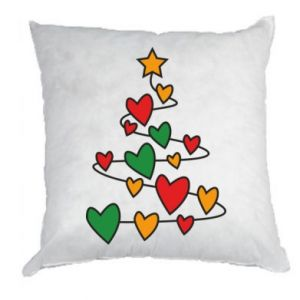 Pillow Christmas tree and a lot of hearts