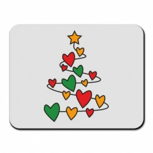 Mouse pad Christmas tree and a lot of hearts
