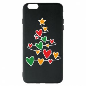 Phone case for iPhone 6 Plus/6S Plus Christmas tree and a lot of hearts