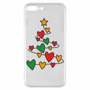 Phone case for iPhone 7 Plus Christmas tree and a lot of hearts