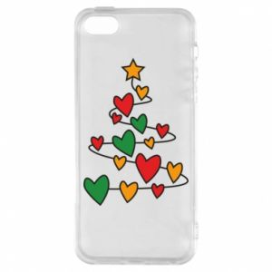 Phone case for iPhone 5/5S/SE Christmas tree and a lot of hearts