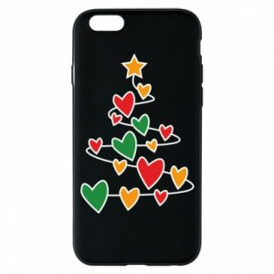 Phone case for iPhone 6/6S Christmas tree and a lot of hearts