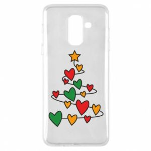 Phone case for Samsung A6+ 2018 Christmas tree and a lot of hearts
