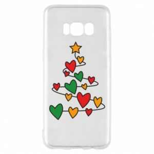 Phone case for Samsung S8 Christmas tree and a lot of hearts