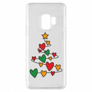 Phone case for Samsung S9 Christmas tree and a lot of hearts