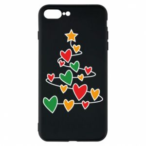 Phone case for iPhone 8 Plus Christmas tree and a lot of hearts