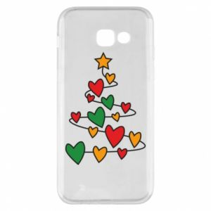 Phone case for Samsung A5 2017 Christmas tree and a lot of hearts