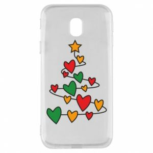 Phone case for Samsung J3 2017 Christmas tree and a lot of hearts