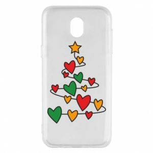Phone case for Samsung J5 2017 Christmas tree and a lot of hearts
