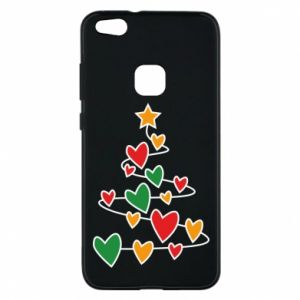 Phone case for Huawei P10 Lite Christmas tree and a lot of hearts