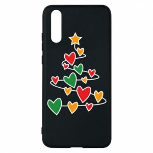 Phone case for Huawei P20 Christmas tree and a lot of hearts