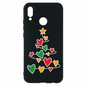 Phone case for Huawei P20 Lite Christmas tree and a lot of hearts