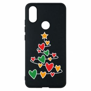 Phone case for Xiaomi Mi A2 Christmas tree and a lot of hearts