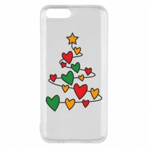 Phone case for Xiaomi Mi6 Christmas tree and a lot of hearts
