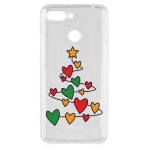 Phone case for Xiaomi Redmi 6 Christmas tree and a lot of hearts