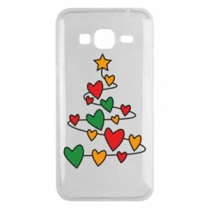 Phone case for Samsung J3 2016 Christmas tree and a lot of hearts