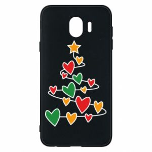 Phone case for Samsung J4 Christmas tree and a lot of hearts