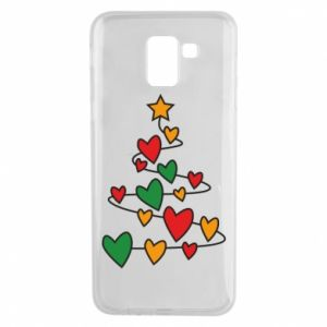 Phone case for Samsung J6 Christmas tree and a lot of hearts