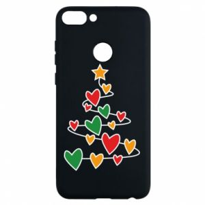 Phone case for Huawei P Smart Christmas tree and a lot of hearts