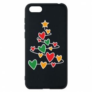 Phone case for Huawei Y5 2018 Christmas tree and a lot of hearts
