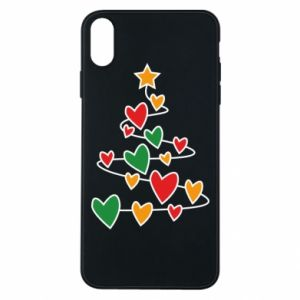 Phone case for iPhone Xs Max Christmas tree and a lot of hearts