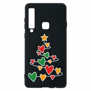 Phone case for Samsung A9 2018 Christmas tree and a lot of hearts